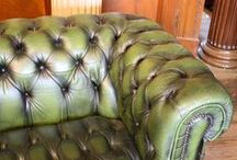 Vintage Chesterfields / Vintage Chesterfield sofas and chairs, with authentic character and wear and tear included. Invest in a style that will never go out of fashion.