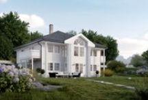 Systemhus Aurora / Aurora er bestselgeren fra Systemhus. Herskapelig hus, eneboliger, funksjonell bolig, ferdighus, stue, kjøkken