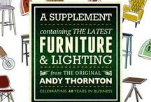 A Supplement. / A Supplement containing the latest furniture & lighting from the original Andy Thornton... This year we're celebrating 40 years in business. Most things can be supplied in any upholstery or stain - talk to us.