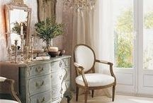 Classic interiors / Beautiful home decor styling that nods to French and English Country style interiors.