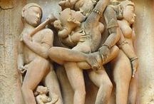 """Erotic art @ ancient times / Erotic Temple sculptures @ India ... ... Kama Sutra: the art of eroticism ... ...  The temples of Khajuraho represent the finest in the medieval Indian tradition of architecture and sculpture. Remarkable not only for the grace and beauty of their figures, but also for the erotica displayed on their walls, these temples remain an enigma. Why were they built? What does the wealth of erotica on these religious structures mean? Read the book """"Love Sculptures of Khajuraho""""."""
