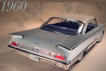 Wings & Flat Fins 1960 / American Cars with Wings and Flat Fins about the 60th ... It's perfect (Italian) Design.