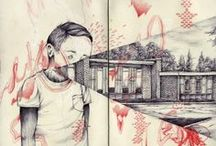 <Sketchbooks / Rough Sketches> / Mostly rough ideas, also the idea of sketchbooks as art.