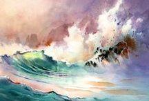 Морские волнения / Купание, брызги, текущие мечтания / by Lyudmila Shiryaeva