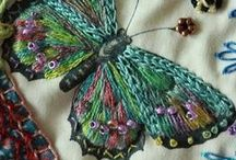 Embroidery, patterns, recycling, brilliant ideas ..