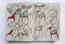 <Furniture - Sketching> / Furniture Sketches