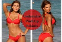 Supportive Underwire & Push-up Bikinis / A wide range of sexy and supportive under-wire and push-up bikini tops, because swimwear has to be functional!