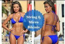 Sexy String Bikinis & Micro Bikinis / Trendy fashion string bikini tops, side tie bikini bottoms and sexy micro bikini swimsuits!