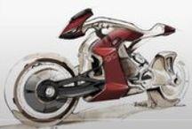 <Motorcycle - Sketching> / Sketches of 2 wheeled (ish) machines.