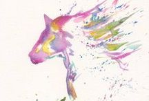 Watercolour Animals / Loose and bright watercolour animals