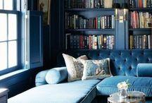 Azure Style / Interior design using gem-like blue accents. Sarah x