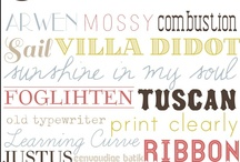 Fonts / by Jessica Posey