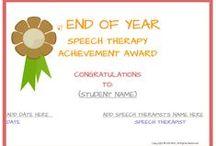 Easybee Speech Therapy Certificates- Spanish & English!! / www.myeasybee.com / by Easybee