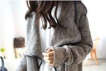 Wrapped Up / Scarves, oversized sweaters, and layers on layers