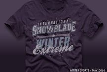 Winter Sport T-shirt Designs / Vector graphic trends for t-shirt designs and fashion products.