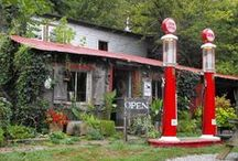 Gas stations , memorabilia / by g.a.w. will