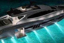 Yachting / Yachts de luxe et autres bateaux futuristes