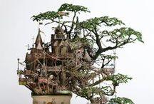 скульптура ART / Интересные скульптуры из бархатного пластика, гипса, металла