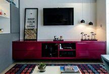 Sala Tv e Jantar / Inspirações e Referências