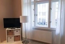 Correspondances - Beautiful flat / Located in a beautiful typical Budapest building, our flat is decorated in a modern style mixing different shades of green with white and wooden furniture.