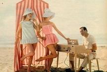 Retro and vintage beach