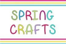 Spring crafts and printables / Crafts for kindergarteners to make during spring - sun, garden, rain, bugs, flowers...