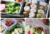Lunch Ideas / Healthy and portable lunch ideas for kids and moms on the go!