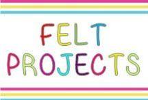 Felt Projects / Felt projects to teach kindergarten.