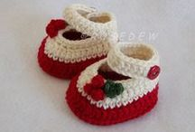Crochet Booties, baby socks, sandals / Crochet