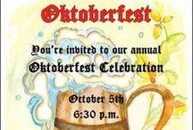 Oktoberfest Party Invitations / Celebrate your autumn holiday with custom Oktoberfest invitations. Ensure your Octoberfest invitation cost is low with free Oktoberfest invites with express shipping.