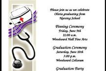 Nurse Pinning Ceremony Invitations Graduation Announcements / When the time for graduation finally arrives for those fortunate nursing graduates, it's time for the highly anticipated nurse pinning ceremony, when your 'pin' is finally given to you. After the pinning presentation, the new nurses become a member of the nursing community. Share these exciting events by sending customized nurse pinning ceremony invitations. And, for those who are unable to attend your pinning ceremony, be sure and send them personalized nursing school graduation announcements.