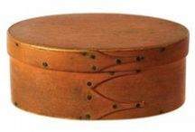 Antique Shaker Boxes, Natural Finish / Inspiration for modern day box makers………..