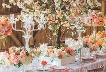 Wedding Centerpieces & Table Decor / Wedding Centerpieces.  Wedding flower centerpieces, table settings, reception tables & decor, lanterns, leaves, fruit.  Stylish wedding tables.   / by This Magic Moment Wedding Sale
