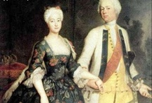 18th Century Fashion - Robe à l'allemande / Examples of a style of German dress in the 18th century related to the French Court Dress (robe de cour) and the deshabillé style of the previous century. I'm always looking for more examples, so if anyone comes across one, please let me know!