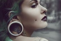 Awesome Ear Piercings / Ear Piercings come in all shapes and sizes; we've gathered together some of the most outstanding ear decorations we've seen. Browse, share, enjoy!  #piercings #earpiercings #bodyart # bodymodification # tattoo