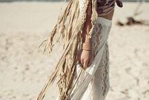 Bohemian western fashion / Bohemian western style fashion.