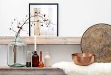 HOME STYLING | Inspiration / Inspiration for styling your home.  Cozy & rustic charm, industrial farmhouse, reclaimed wood pieces, minimalist lifestyle.