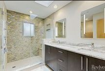 Arlington Heights Master Bathroom Remodel / This Arlington Heights master bathroom remodel turned a dated and dingy space into a modern masterpiece. Complete with his-and-hers sinks, a relaxing shower, and custom skylight, their master bath is now a place to truly relax.