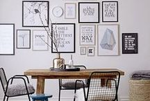 ART GALLERY WALL | Inspiration / Ideas and inspiration to help make your space pop with art and pictures.