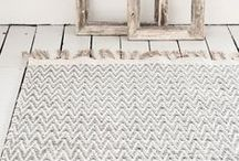 RUG | Inspiration / Ideas for rugs in your home. Play with interesting colors, textures, and patterns.