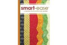 Quiltsmart Smart-ease  / Smart-ease is a great way to easily and professionally customize your quilts.  You get to spend your time on the creative aspects while the tedious parts are simplified.  Smart-ease products make quilting fast and easy.  #sewing #quilting #quilts #quilt #diy