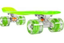 Sunset Skateboards / The transparent cruiser with glowing LED wheels.