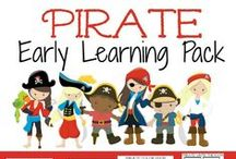 Pirate Preschool Theme / pirate themed preschool ideas, pirate snacks, pirate learning activities, pirate printables, pirate crafts