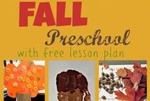 Fall Preschool Theme / Autumn and Fall activities, crafts and traditions