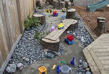 Daycare outdoor backyard spaces & activities for kids / backyard and playground ideas for natural play spaces for children