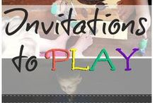 Invitation to play, pretend play prompts sets