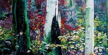My paintings: Zauberwald / Enchanted Forest