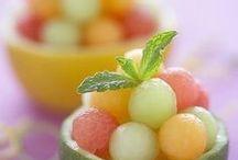 Frutas de verano / Presentaciones atractivas de frutas! Accesible para principiantes! Imaginación con salsas, quesos crema, yogur, almíbar, mermeladas diluidas...