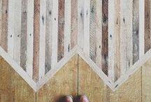 Inspirational Hardwood Flooring Designs / Herringbone patterns, curved floors, diagonal floors, wood inlays, and more / by Southern Oaks Flooring