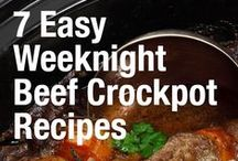 Beef Crock Pot Meals / Beef cooked low and slow...yummy!